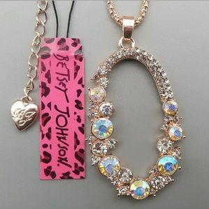 New Betesy Johnson AB oval pendant necklace